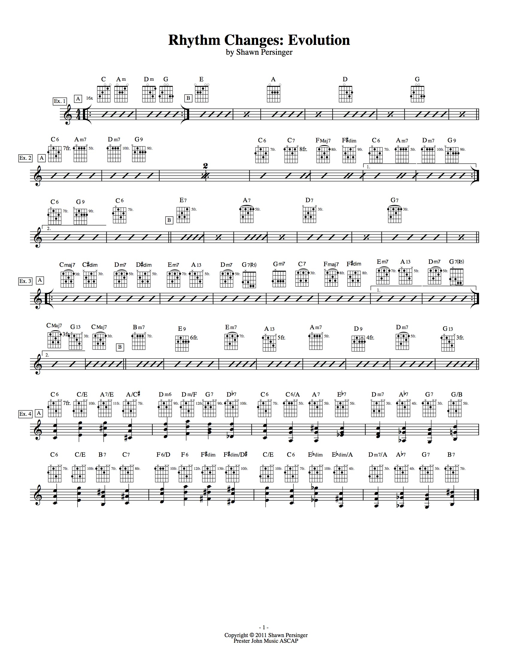Rhythm Changes Evolution Taylor Guitars