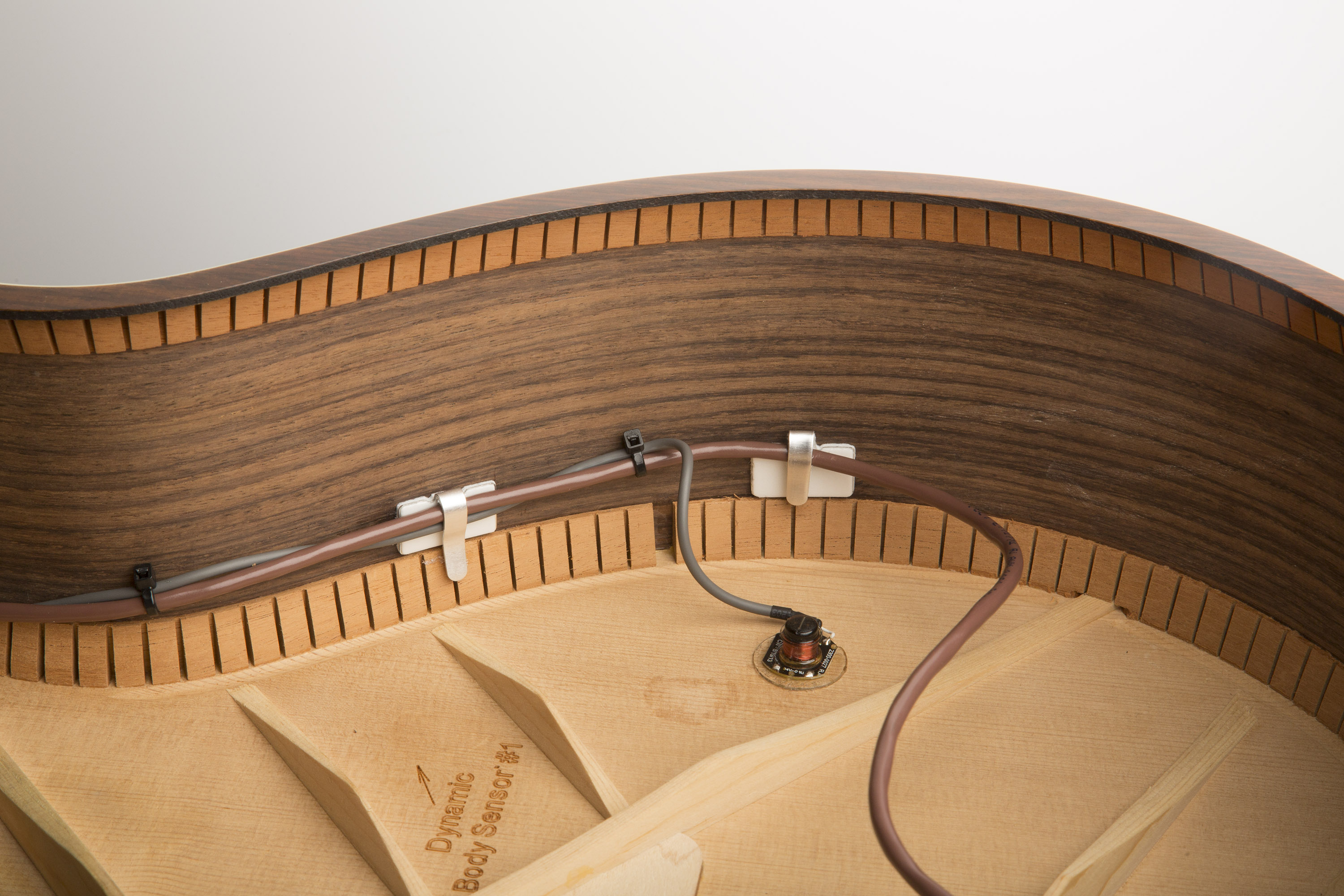 Taylorsense installation instructions version 2 taylor guitars bend the wire clip down to re secure the wire inside the guitar sciox Gallery