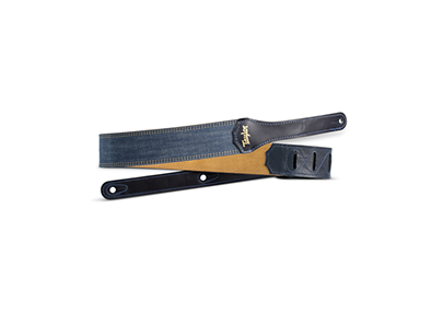 Taylor Blue Denim 2 Inch Guitar Strap - Gold Logo