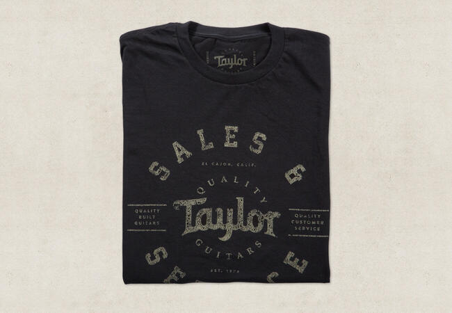 taylor guitars mens shop t shirt. Black Bedroom Furniture Sets. Home Design Ideas