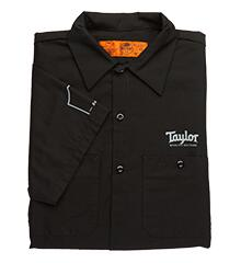 Taylor short-sleeve work-style shirt in black